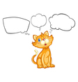 A cat blinking his eye vector image vector image