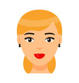 avatar beautiful blonde woman with elegance vector image vector image