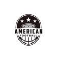 badge patch emblem american football sport logo vector image vector image