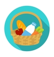 Basket with products icon in flat style isolated vector image vector image