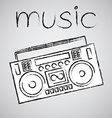 boombox drawing retro sketch vector image vector image