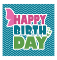 Butterflies birthday card template vector image vector image