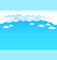cartoon clouds and blue sky vector image
