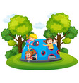 children playing at playground vector image vector image