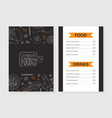 chinese food menu template traditional asian vector image