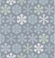 Christmas seamless pattern with snowflakes in vector image vector image