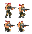 Commando Crouching Game Sprite vector image vector image