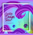 creative 3d flow poster design abstract background vector image vector image
