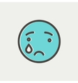 Crying thin line icon vector image vector image
