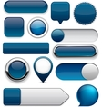 Dark-blue high-detailed modern buttons vector | Price: 1 Credit (USD $1)
