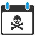 Death Skull Calendar Day Toolbar Icon vector image vector image