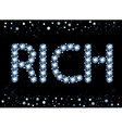 Diamond Rich Word vector image vector image