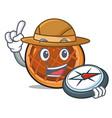 explorer baket pie mascot cartoon vector image