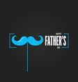 fathers day frame on blaaack background vector image