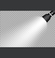 flashlight on a transparent background vector image vector image