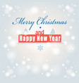 font greeting christmas card vector image vector image