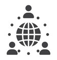 global partnership solid icon business vector image vector image