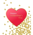 Happy Valentines Day Gold Background Gold and red vector image vector image