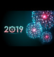 holiday festival blue firework happy new year vector image vector image