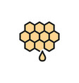 honey beekeeping flat color line icon isolated vector image