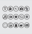 Icon Pack BW vector image