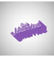 Just Married retro label vector image vector image