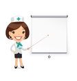 Lady Doctor with Laser Pointer Presenting vector image vector image