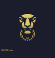 lion door knocker vector image vector image