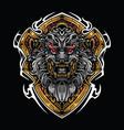 lion head mascot logo design vector image vector image