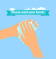 man washing hands vector image