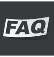 Monochrome FAQ sticker vector image vector image