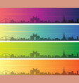 mumbai multiple color gradient skyline banner vector image vector image