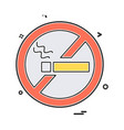 no smoking icon design vector image