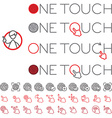 One touch vector image vector image