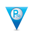 parking bicycle symbol map pointer blue vector image