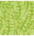 Pattern green dandelion leaves vector image vector image