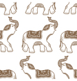 pattern with hand drawn elephants vector image vector image