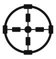 police aim radar icon simple style vector image vector image