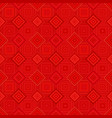 red abstract seamless diagonal square pattern vector image vector image