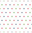 red green blue polka dots on white background vector image vector image