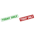scratched today only stamps with rounded rectangle vector image vector image