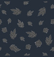 seamless pattern with floating leaves vector image vector image