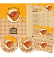 set design elements for pizzeria vector image vector image