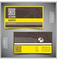 Set of creative business cards vector image vector image