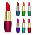 Set of multicolored lipsticks vector image