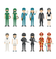 set profession characters eps10 format vector image
