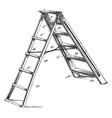 six step ladder vintage vector image vector image