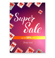 super sale with lots gifts gift boxes with red vector image