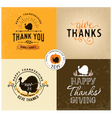 Thanksgiving Day Design Elements in Vintage Style vector image vector image