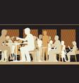 toned restaurant scene vector image vector image